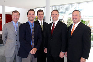 The YPA Executives, left to right: Ken Goldsmith, Managing Director, YPA; Steve Jourdenais, President, Jormac; Mike McAllister, VP - Engineering, Jormac; Daron Dryer, VP - Mechanical Systems, EAC; Rick Richardson, President, EAC & CEO of Cabin Innovations. Absent are recent additions to the executive team: Danny Wintz, President of Cabin Innovations; Frank Nelson, VP - Programs, Jormac.